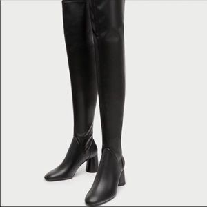 Zara Over The Knee Boots size 7.5